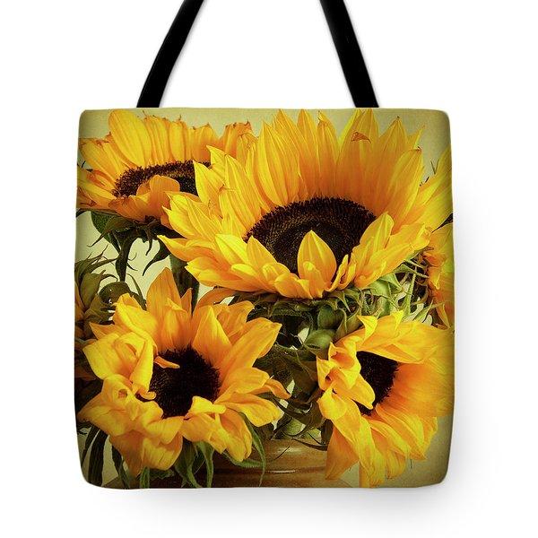 Jar Of Sunflowers Tote Bag