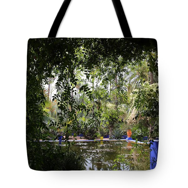 Tote Bag featuring the photograph Jardin Majorelle 2 by Andrew Fare