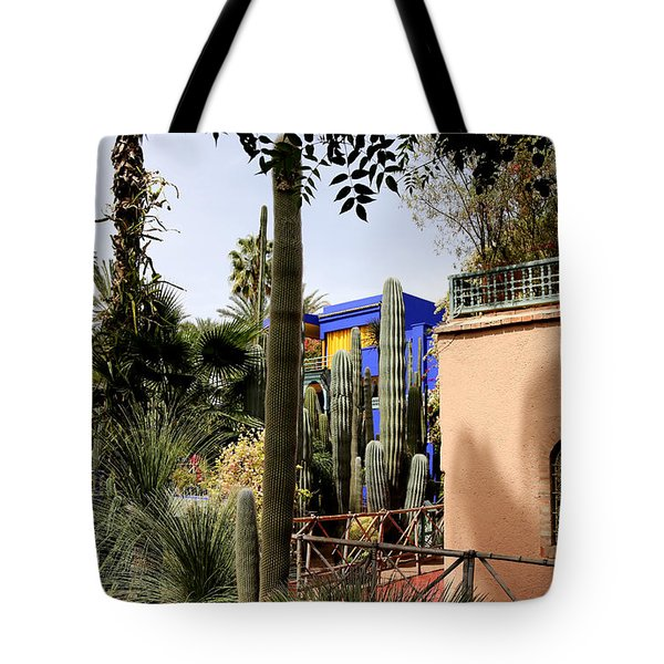 Tote Bag featuring the photograph Jardin Majorelle 4 by Andrew Fare