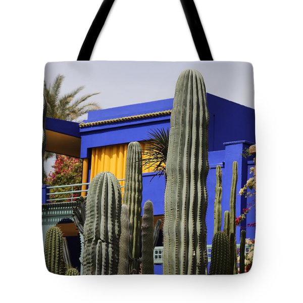 Tote Bag featuring the photograph Jardin Majorelle 5 by Andrew Fare