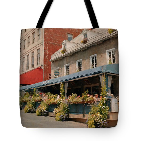 Jardin Nelson - Old Montreal Tote Bag by Maria Angelica Maira