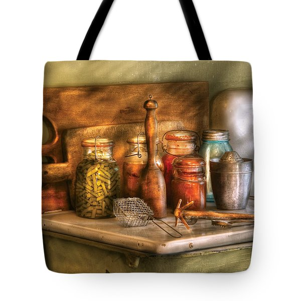 Jars - The Process Of Canning Tote Bag by Mike Savad