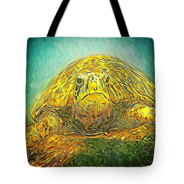 Jasmine The Turtle Tote Bag