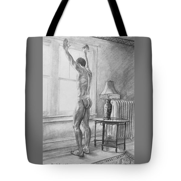 Jason At The Window Tote Bag