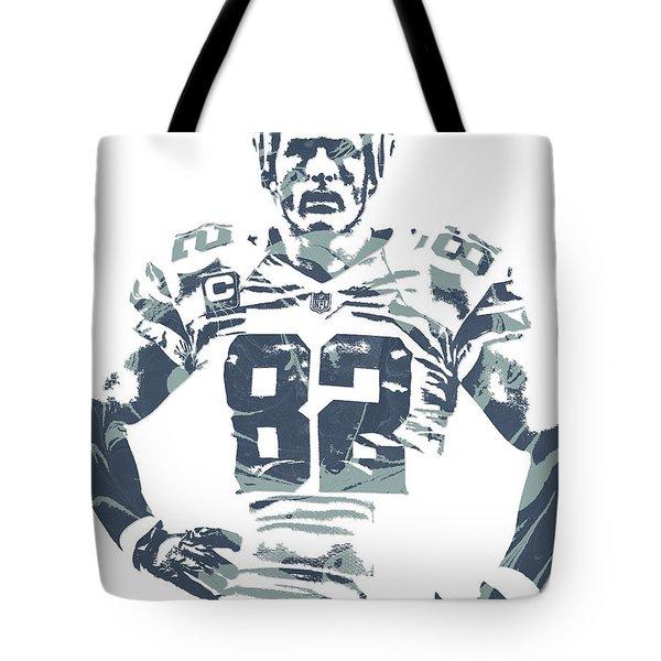 Jason Witten Dallas Cowboys Pixel Art Tote Bag