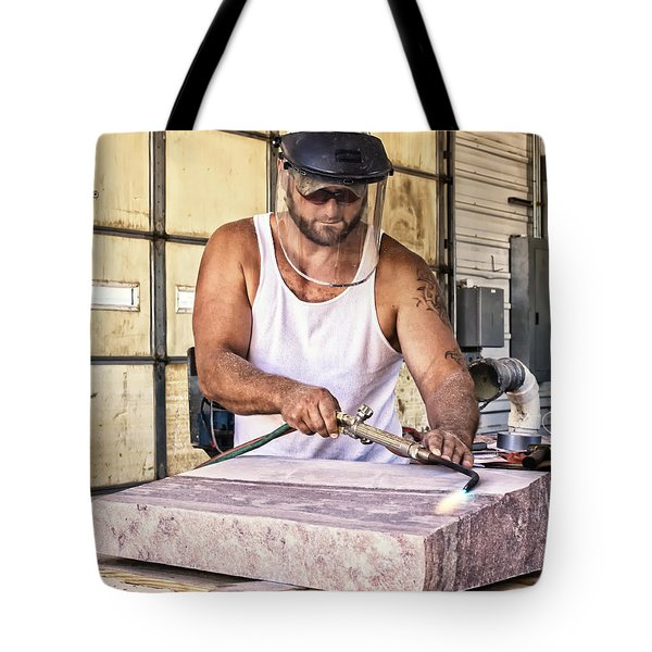 Jasper Stone Worker Tote Bag