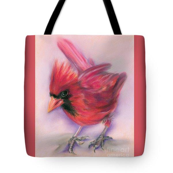 Jaunty Redbird Cardinal Tote Bag