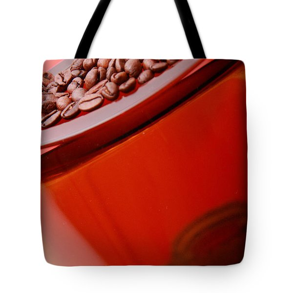 Java In Red Tote Bag