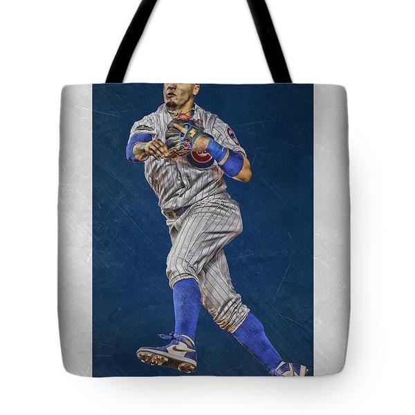 Javier Baez Chicago Cubs Art Tote Bag
