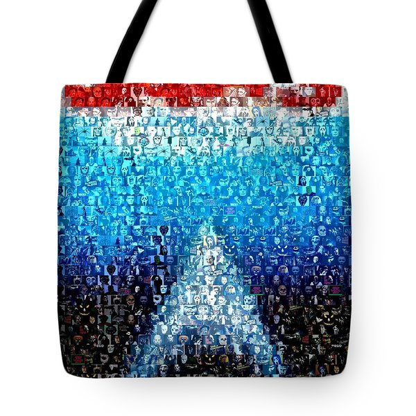 Jaws Horror Mosaic Tote Bag by Paul Van Scott