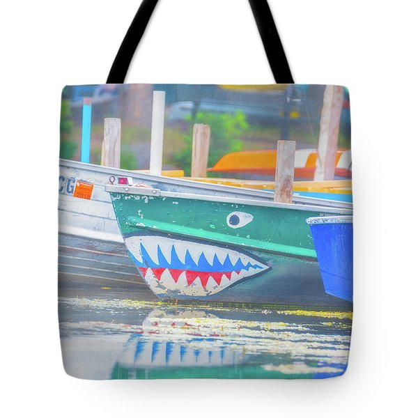 Jaws Tote Bag by Pamela Williams