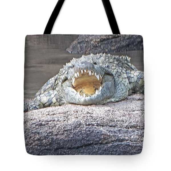 Tote Bag featuring the photograph Jaws by Pravine Chester
