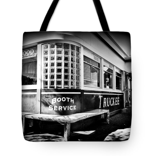 Tote Bag featuring the photograph Jax Diner, Truckee by Vinnie Oakes