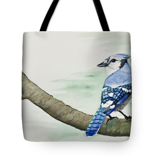 Jay In The Pine Tote Bag