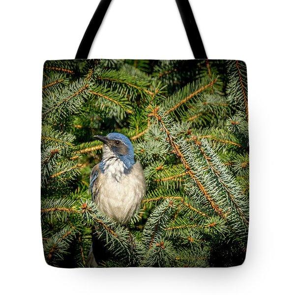 Jay In Tree Tote Bag