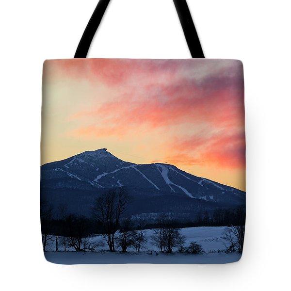 Jay Peak Winter Twilight Tote Bag