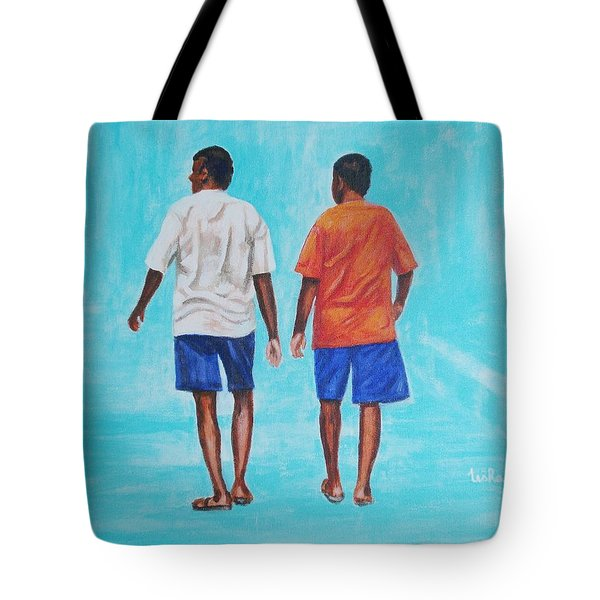 Jay Walkers Tote Bag by Usha Shantharam