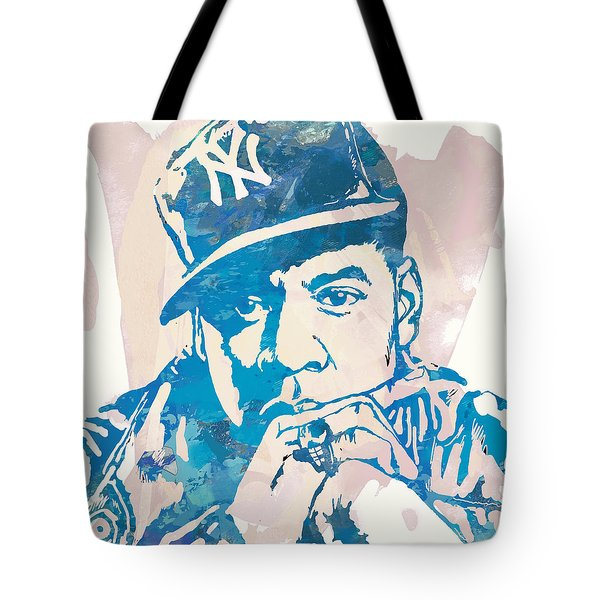 Jay-z  Etching Pop Art Poster Tote Bag by Kim Wang
