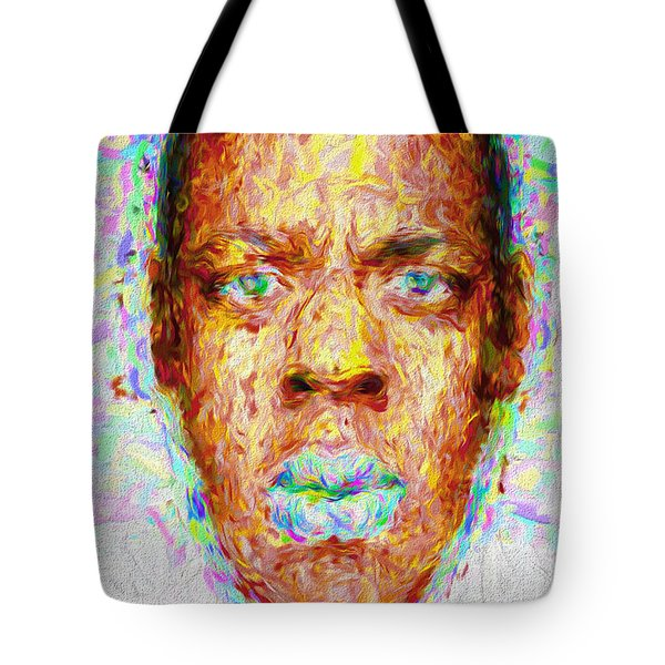 Jay Z Painted Digitally 2 Tote Bag by David Haskett