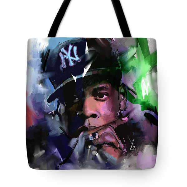 Tote Bag featuring the painting Jay Z by Richard Day