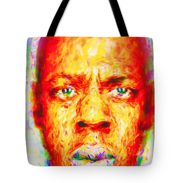 Jay-z Shawn Carter Digitally Painted Tote Bag by David Haskett