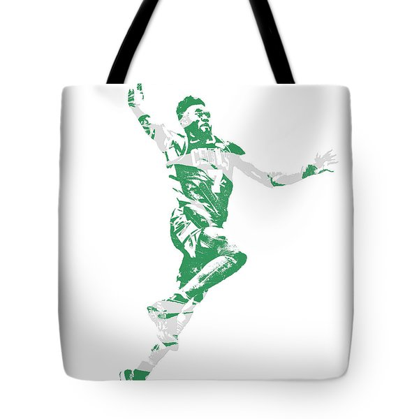 Jaylen Brown Boston Celtics Pixel Art 10 Tote Bag
