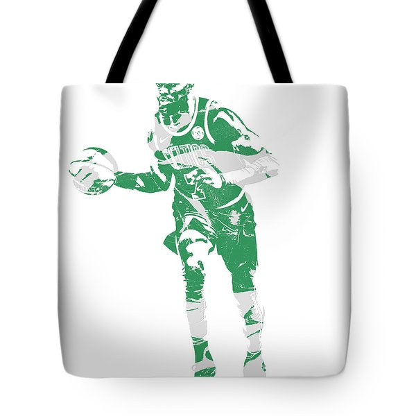 Jaylen Brown Boston Celtics Pixel Art 30 Tote Bag
