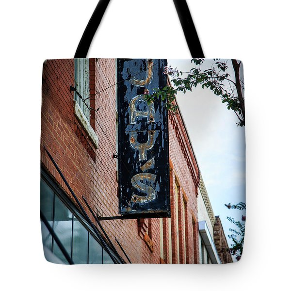 Tote Bag featuring the photograph Jay's Sign by Doug Camara
