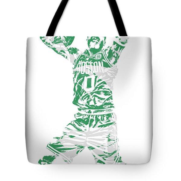 Jayson Tatum Boston Celtics Pixel Art 11 Tote Bag