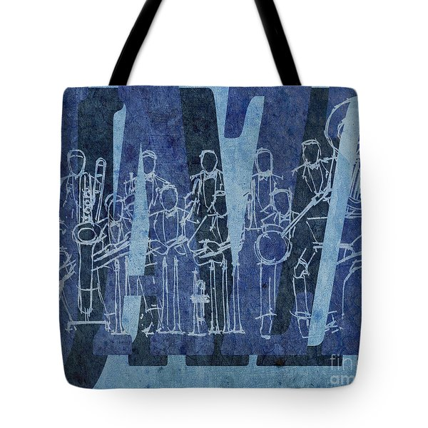 Jazz 30 Orchestra Blue Tote Bag