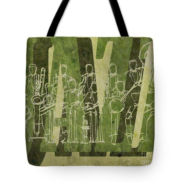 Jazz 30 Orchestra Green Tote Bag