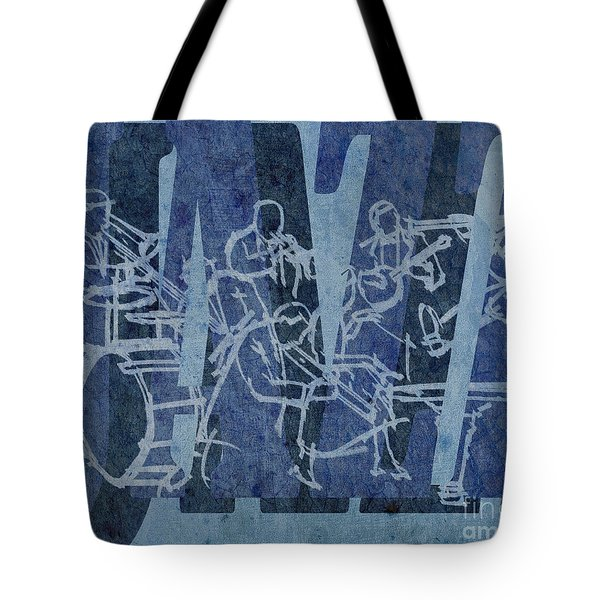 Jazz 32 Hot Seven - Blue Tote Bag