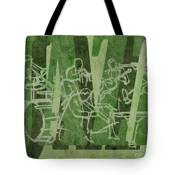 Jazz 32 Hot Seven - Green Tote Bag