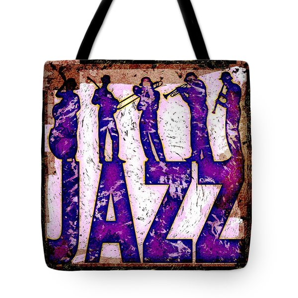 Jazz Abstract Tote Bag by David G Paul
