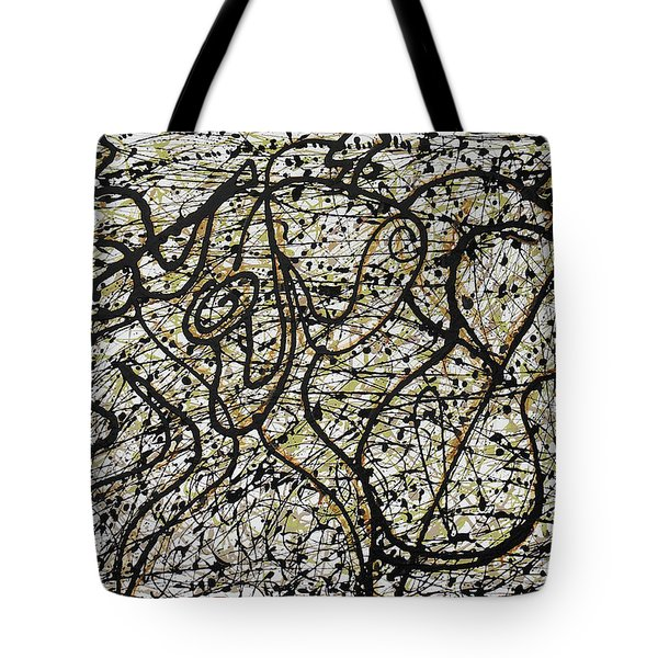 Jazz And Pollock Tote Bag