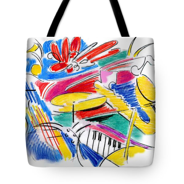 Jazz Art Tote Bag