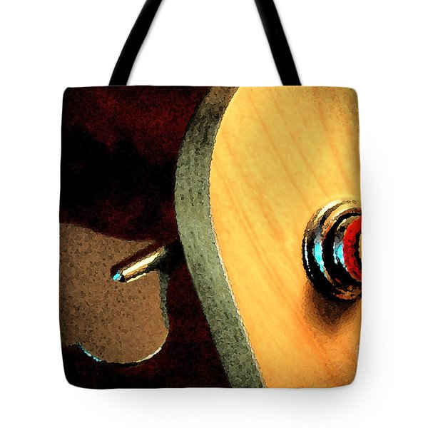 Tote Bag featuring the digital art Jazz Bass Tuner by Todd Blanchard