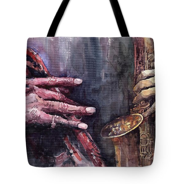 Jazz Batle Of Improvisation Tote Bag by Yuriy  Shevchuk