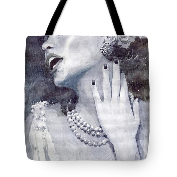 Jazz Billie Holiday Tote Bag by Yuriy  Shevchuk