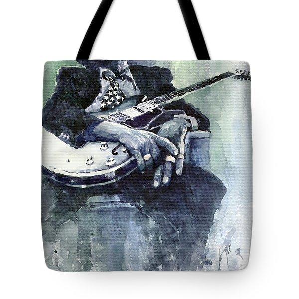 Jazz Bluesman John Lee Hooker 04 Tote Bag by Yuriy  Shevchuk