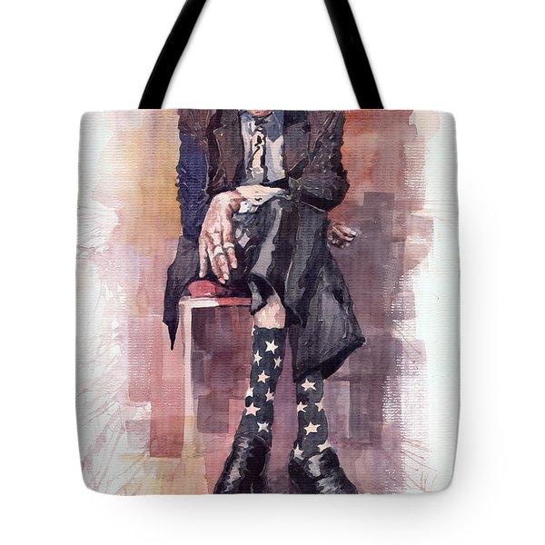 Jazz Bluesman John Lee Hooker Tote Bag
