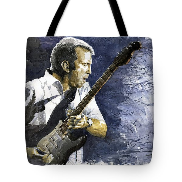 Jazz Eric Clapton 1 Tote Bag by Yuriy  Shevchuk
