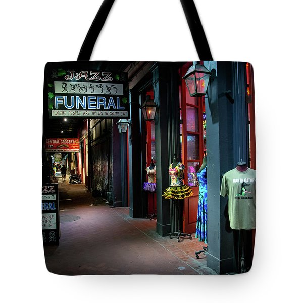 Jazz Funeral Tote Bag