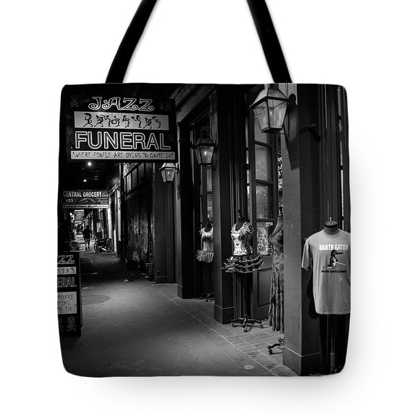Jazz Funeral In Black And White Tote Bag