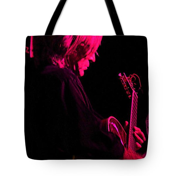 Tote Bag featuring the photograph Jazz Guitarist by Lori Seaman