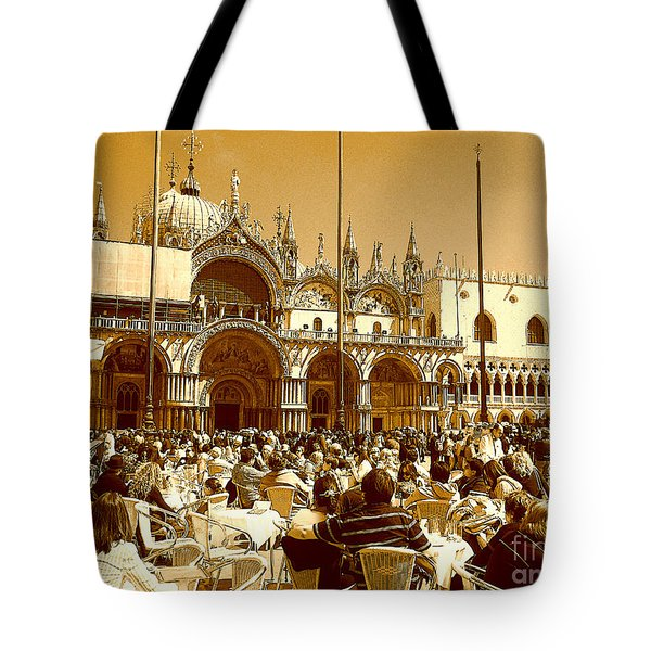 Jazz In Piazza San Marco Tote Bag