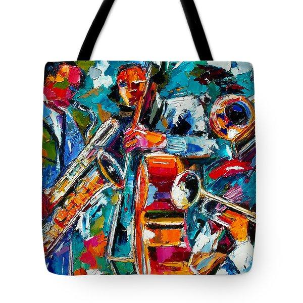 Jazz Magic Tote Bag by Debra Hurd
