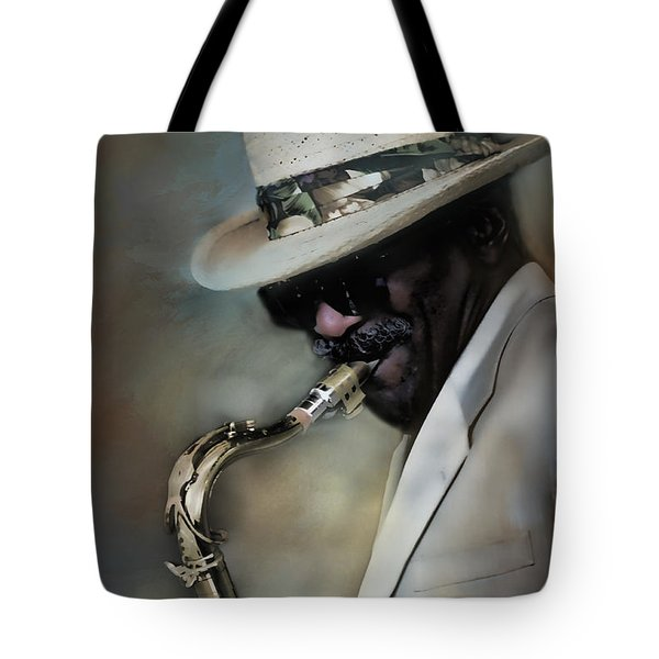 Jazz Man Tote Bag by Ann Bridges
