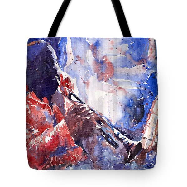 Jazz Miles Davis 15 Tote Bag by Yuriy  Shevchuk