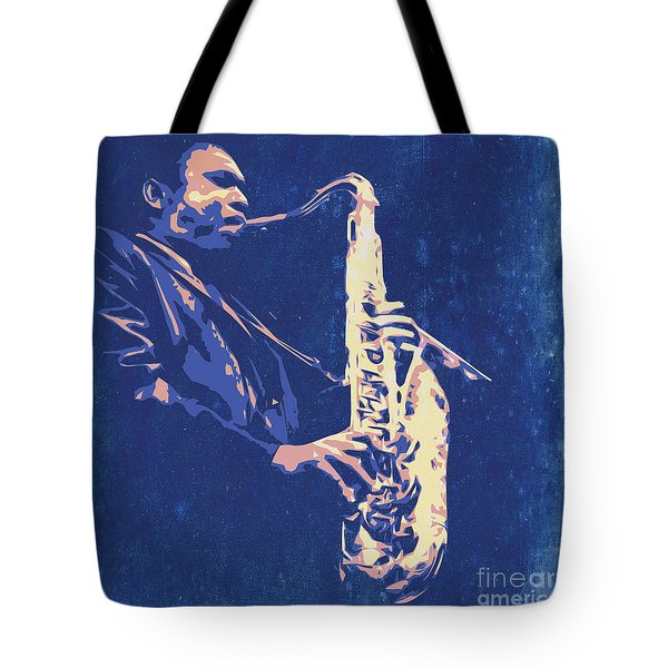 Jazz On S Stage Tote Bag